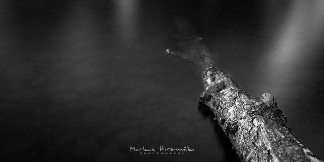 Hidden. No People Pirkkala Finland Non Urban Scene Reflections Water Surface Long Exposure Non-urban Scene Lake Water Tranquility Tranquil Scene Black And White Photography Black And White Black & White Blackandwhite Bnw