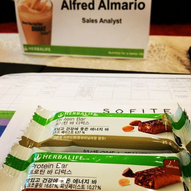 Strategic Meeting:) Herbalifeph Protein bar Sofitel