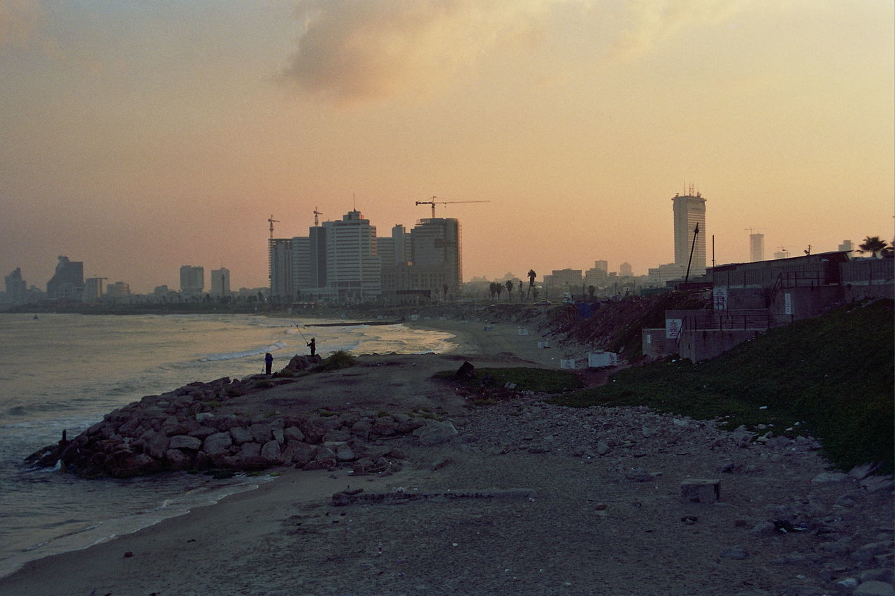 Jaffa 1999 Architecture Asia House Beit Asia Building Exterior Built Structure City Cityscape Derelict Fishing Kol-bo Shalom Mediterranean  Mediterranean Sea Nature No People Outdoors Sea Shalom Tower Sky Skyscraper Sunset Urban Skyline Water