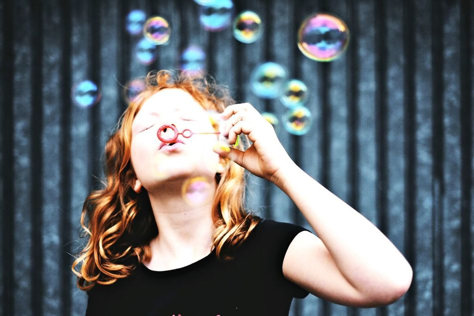 Beautiful stock photos of teenager,  8-9 Years,  Beauty,  Blowing,  Bubble