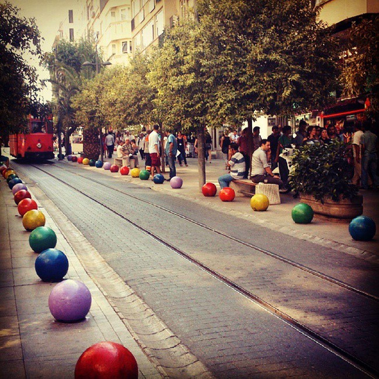 Direnmerdiven Kadikoy Bahariye Istanbul turkey colourful street thebestoftheday instaturkey landscape