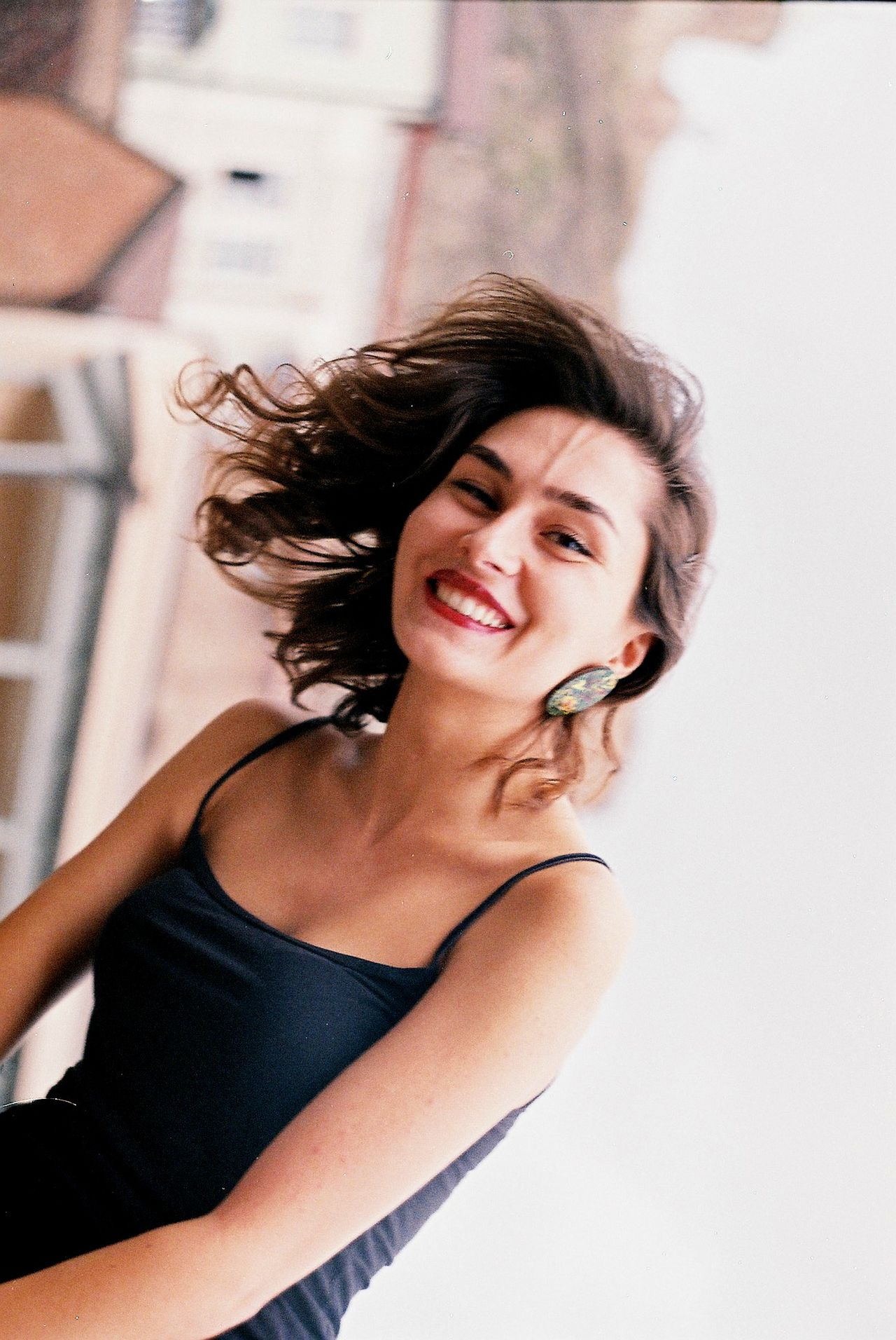 Adult Beautiful People Beautiful Woman Beauty Cheerful Close-up Day Fashion Film Film Photography Happiness Headshot Human Body Part Indoors  One Person One Woman Only One Young Woman Only Only Women People Portrait Real People Smiling Young Adult Young Women
