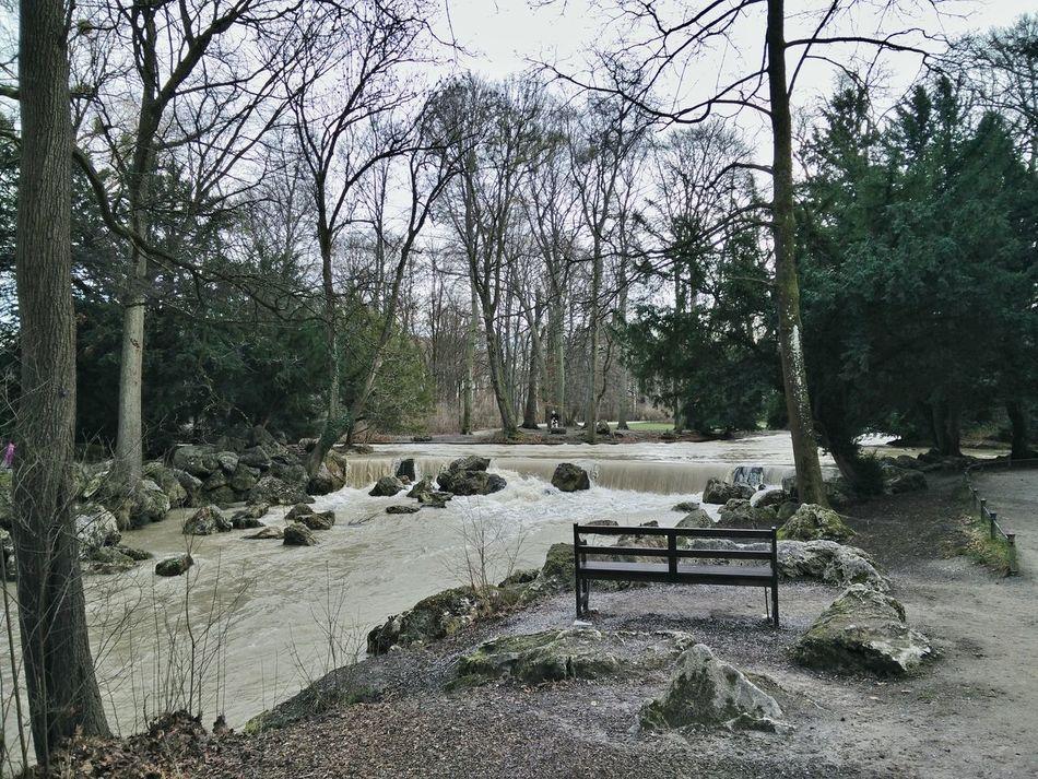 Munich München Germany Englischer Garten English Park Cloudy Sightseeing