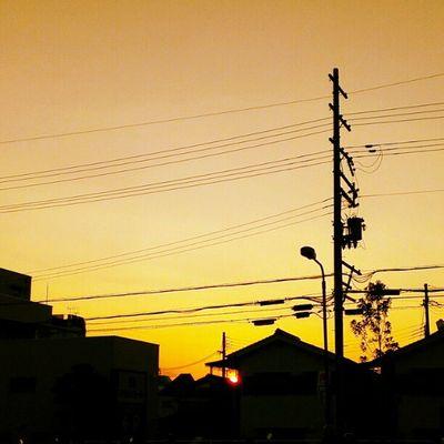 #sunset #sky #electricline #Kyoto #autumn #kennon Sunset Sky Kyoto Autumn Electricline Kennon