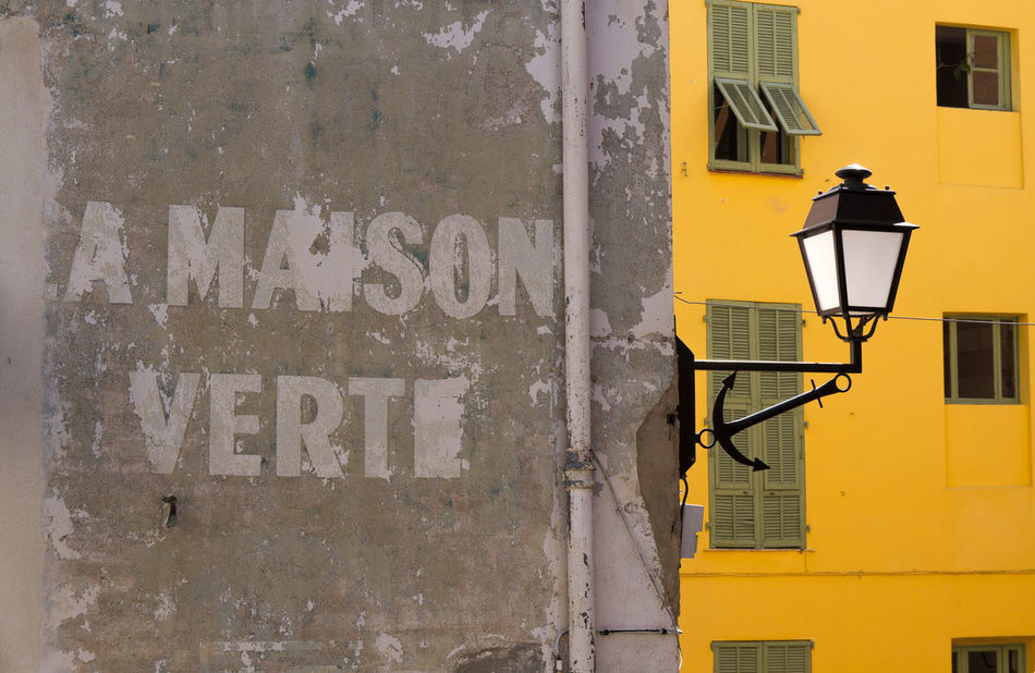 Anchor Architecture Building Building Exterior France House Lamp Maison No People Texture Travel Verte Wall