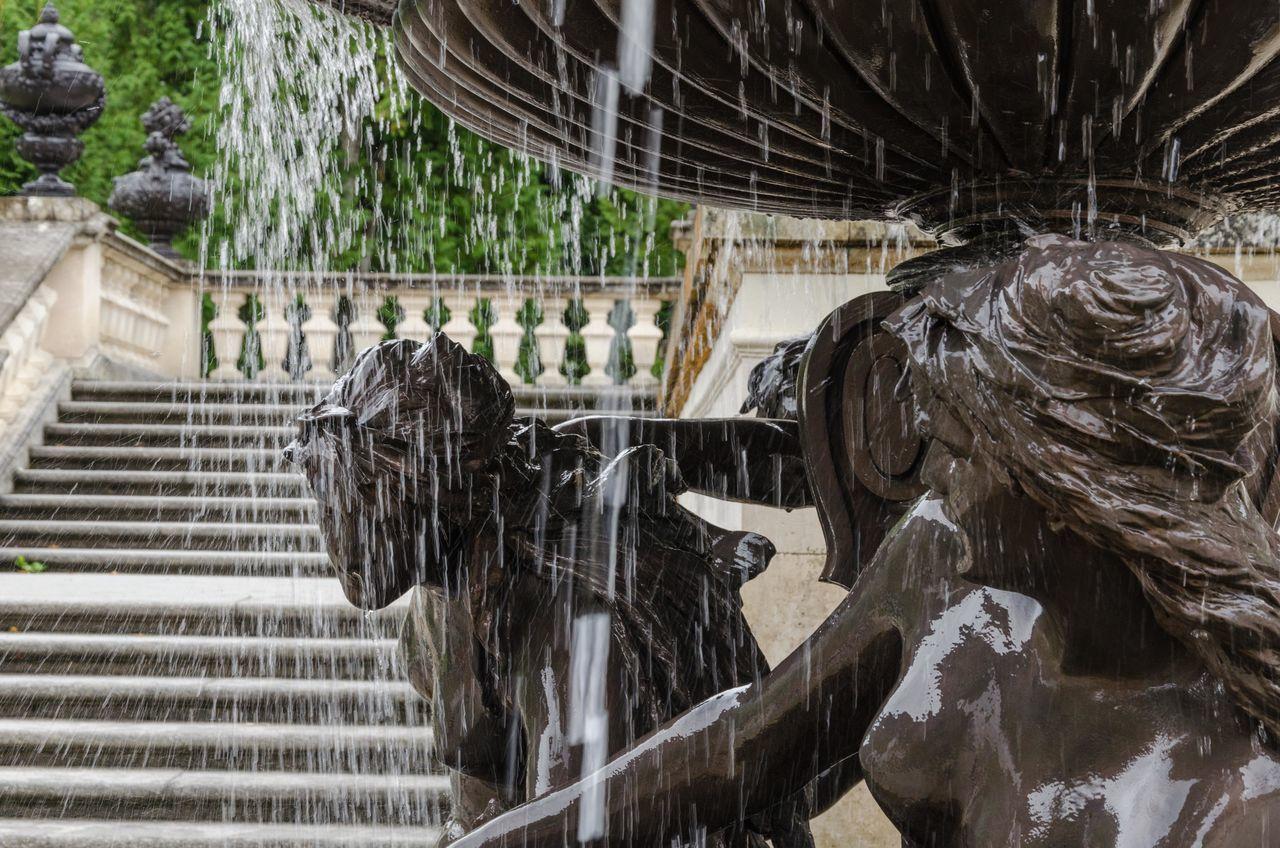 Brunnen Castle Grounds Fountain Linderhof Outdoors Schloss Schlosspark Statue