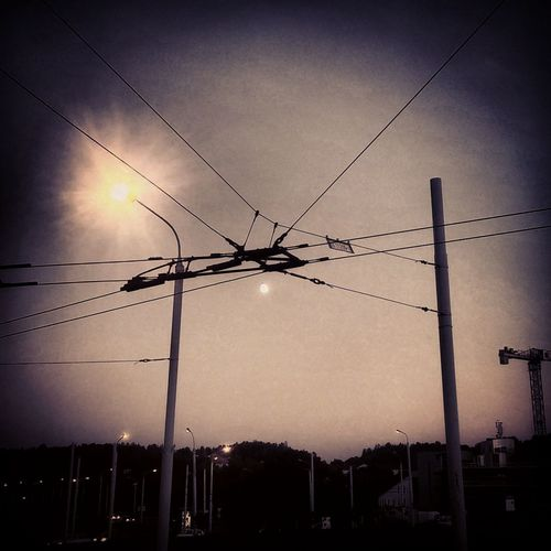 Serial Experiments: LAIN Vilnius Lithuania Wires City