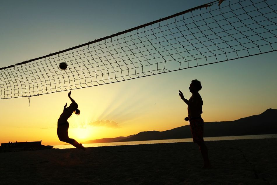 Beautiful stock photos of volleyball, Beach, Beach Volleyball, Competition, Copy Space