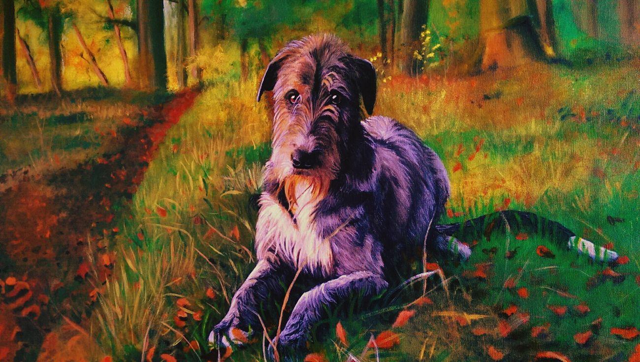 ArtWork Art, Drawing, Creativity Art Acrylic Painting Acrylic Irish Wolfhound Getting Inspired
