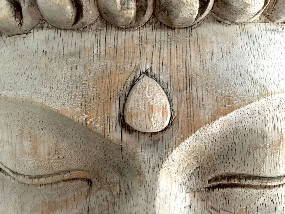 Ajna Bindi Eyes Closed  Wood - Material Wooden Sculpure Wooden Mask Face Of India Backgrounds Third Eye Chakra Third Eye