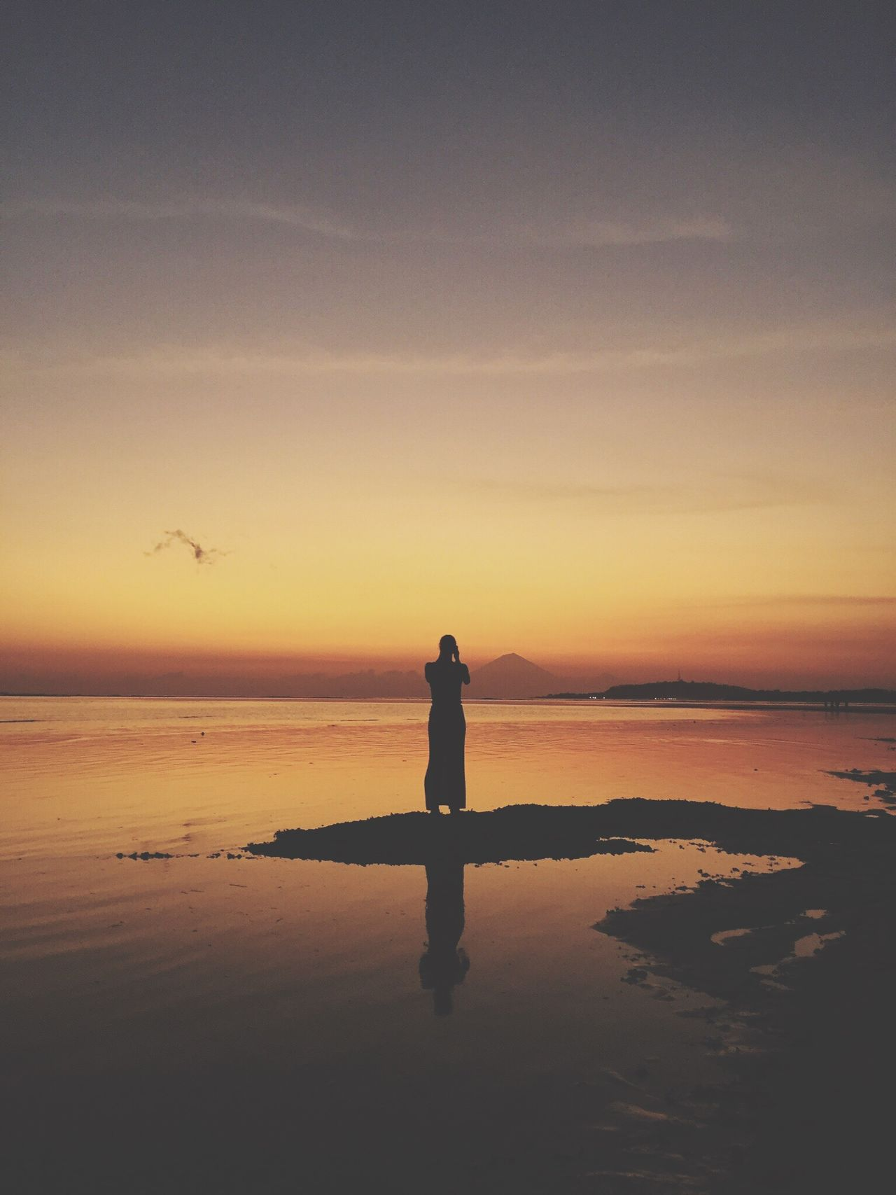 Beautiful stock photos of bali, water, reflection, sunset, nature