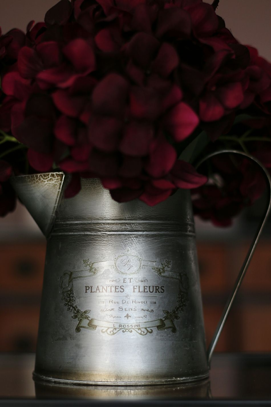 French watercan with flowers. French Flowers French Flowers Flowerpot Watercan