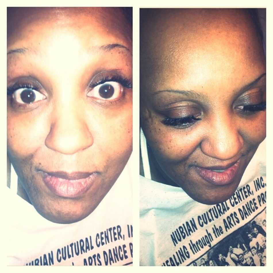 Did my mom lashes and brows