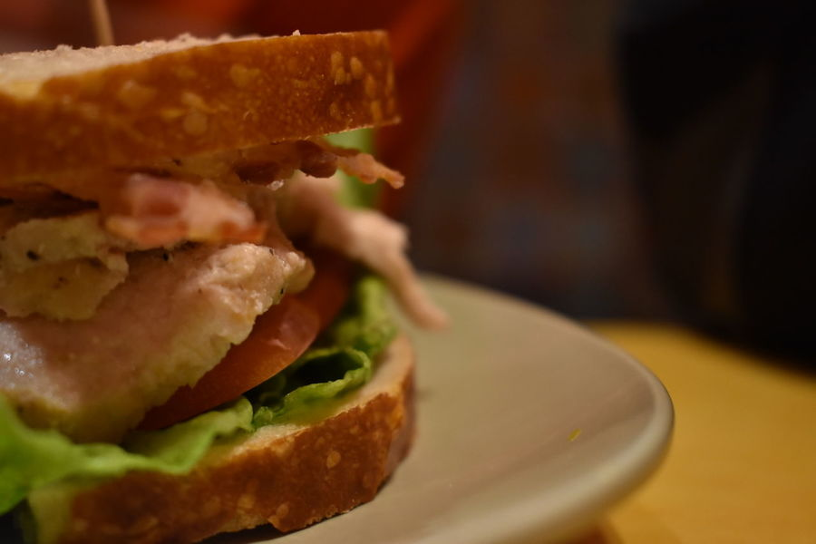The Roasted Turkey and Avacado Close-up Ready-to-eat Food Food And Drink Sandwich No People Plate Freshness Bread Indoors  Pub Food Day Panera Bread  Avacado Turkey Food Photography Diner Table Delicious EyeEm Food Photography