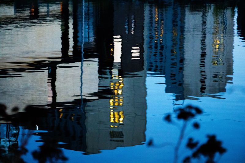 Bijlmer Bajes Amsterdam Water Reflection Outdoors Lake Day No People Nature Road Close-up Amstel River Amstel Window Light Perspectives On Nature Rethink Things