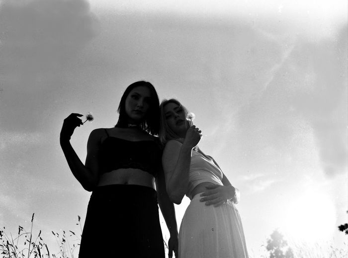 BNW film shot of Nancy and Sara Happiness Love Low Angle View Togetherness Smiling EyeEm Diversity Bonding Leisure Activity Sky Young Adult Lifestyles Young Women Friendship Outdoors Celebration Cheerful Real People Blackandwhite EyeEm Selects Women EyeEm Best Shots EyeEmNewHere The Portraitist - 2017 EyeEm Awards Portrait Eye Em Vision