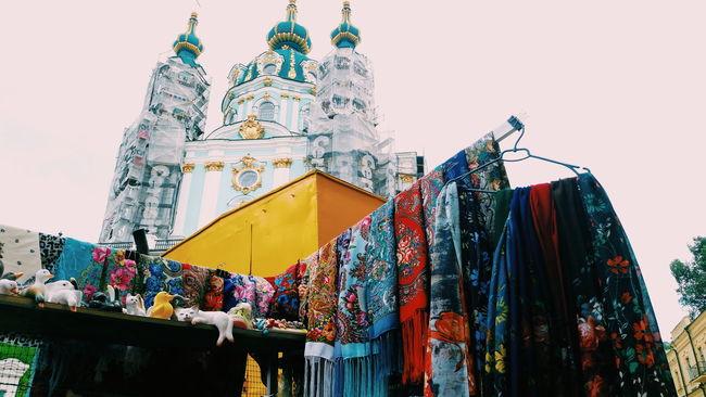 Power of colors at street market. Kiev_ig Kiev Church Kievgram Kiev Ukraine Cathedral Orthodox Church Architecture Streetphotography Colors Street Photography Street Market Mobilephotography