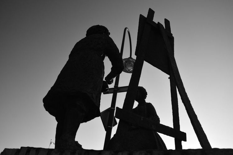painter Rembrandt van RijnArtWork Welcome To Black Low Angle View Outdoors Sky Day Light And Shadow Black And White Black & White Getting Inspired EyeEm Gallery Eye4photography  From My Point Of View Exceptional Photographs No People Sint Annaparochie Het Bildt Netherlands Silhouette