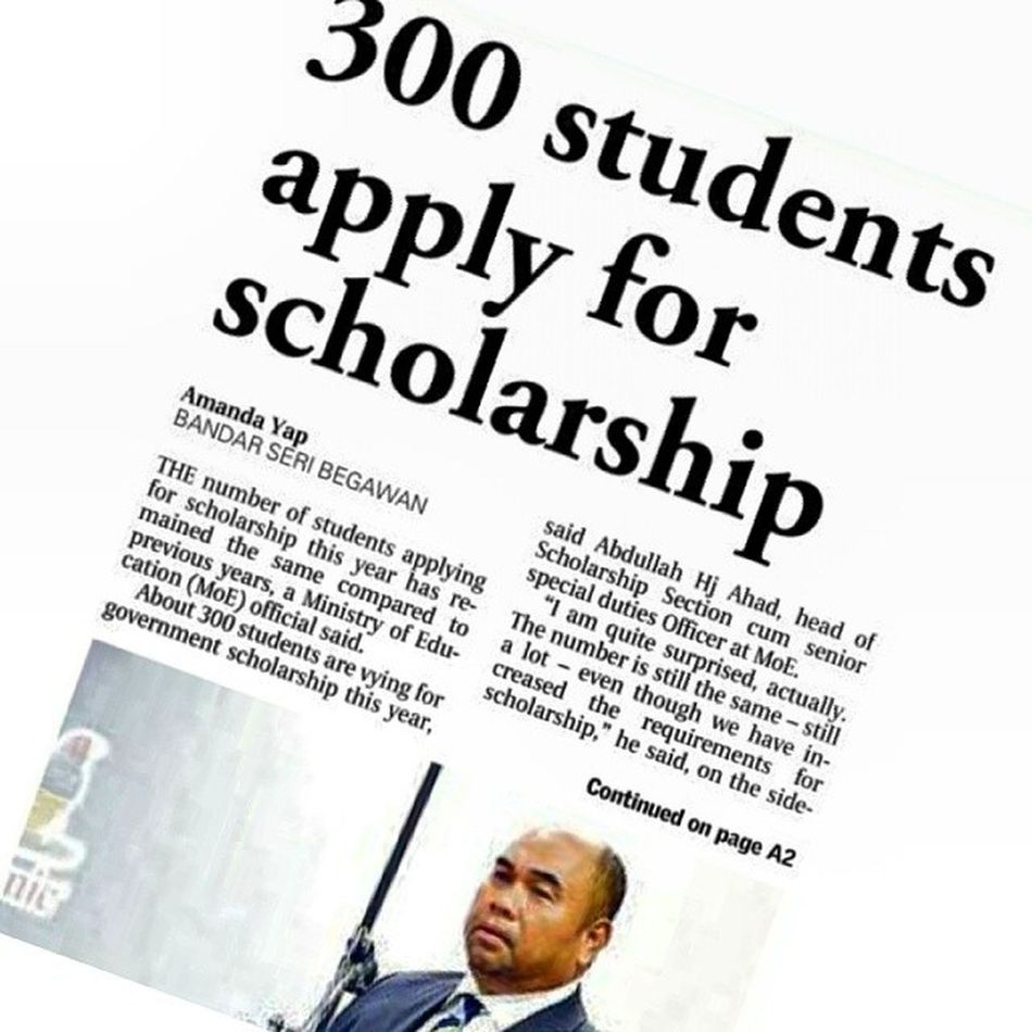"""Now there's a psychometric test to determine if you're a """"flight risk""""... It's only gonna get tougher for our young ones to win those scholarships. Random Thoughts InThePapers Brunei HappeningsBN Education Youth"""