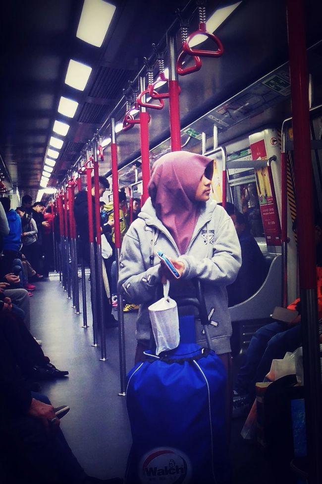 MTR Hong Kong On The Train Taking Photos Street Photography