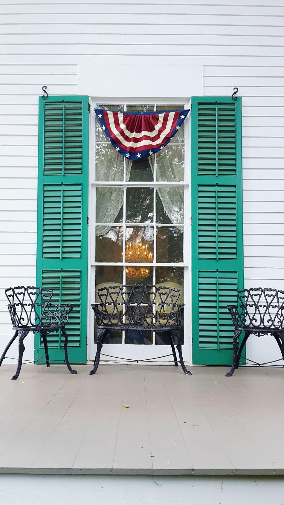 Patriotic House Antebellum White Architecture Porch
