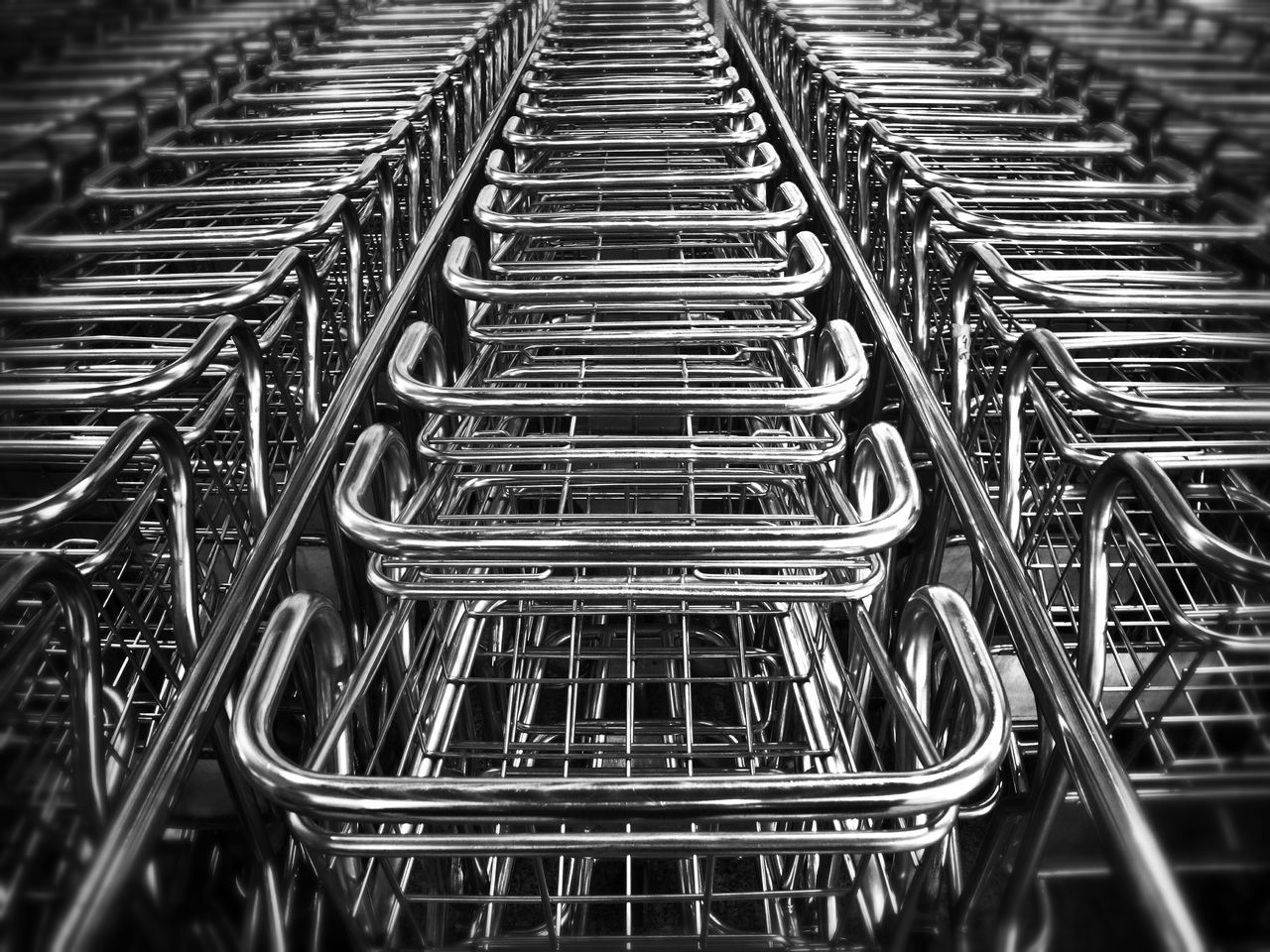 Beautiful stock photos of metal, Arrangement, High Angle View, In A Row, Indoors