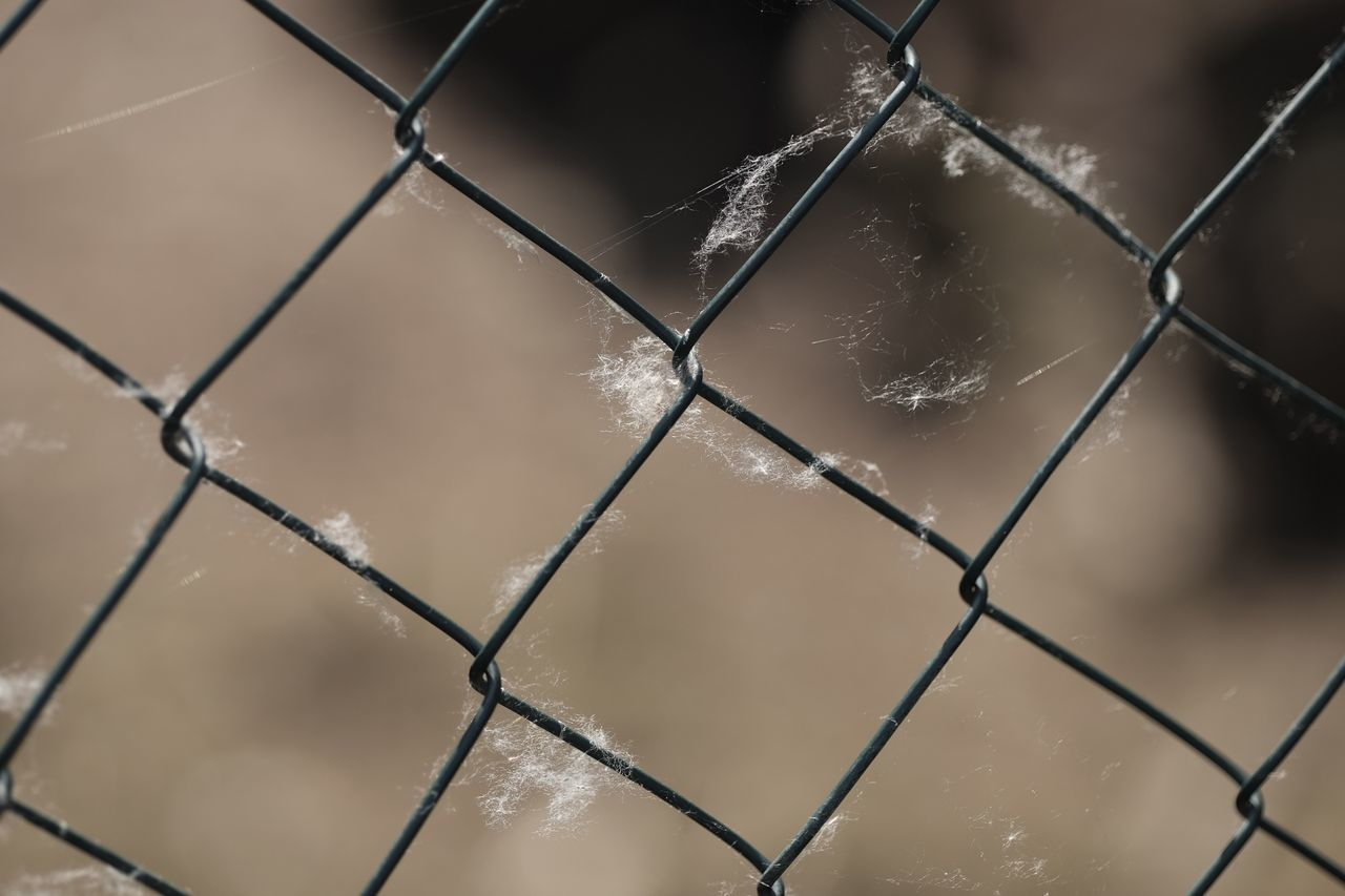 Protection Chainlink Fence Safety Metal Security Close-up Full Frame No People Water Focus On Foreground Pattern Day Outdoors Nature Sky