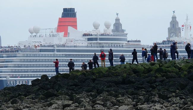 Three Queens Cunard's three cruise liners visit Liverpool.