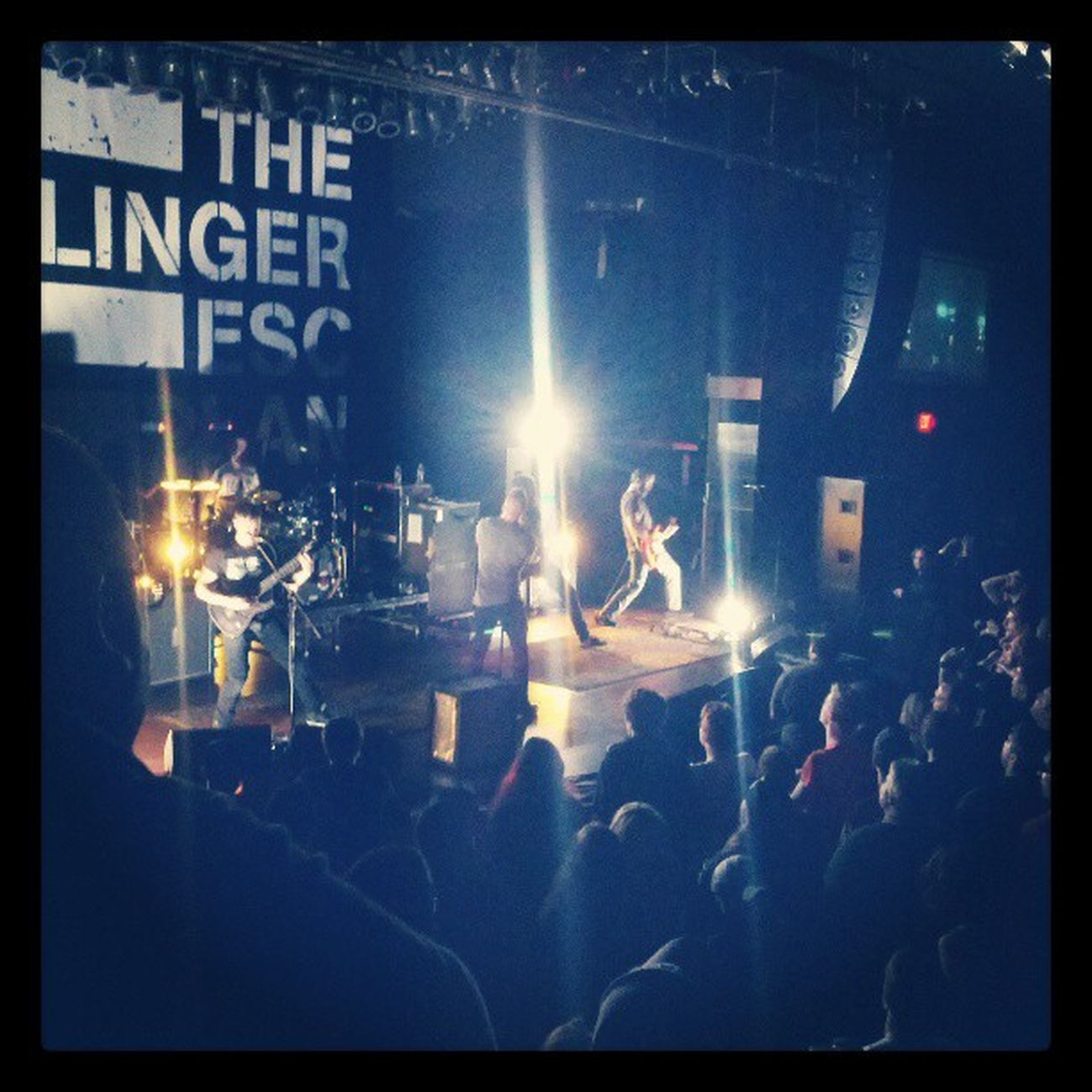 Dillinger escape plan tearing up Buffalo at the @townballroom . Sorry for the small crowd :(