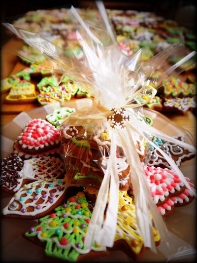 Colourful Cookies Cooking Dessert Food For Sale Freshness Gingerbread Gingerbreads Multi Colored