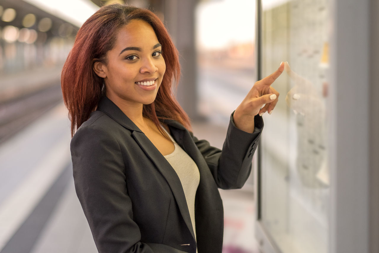Beautiful stock photos of business,  20-24 Years,  Board,  Commuter,  Confidence