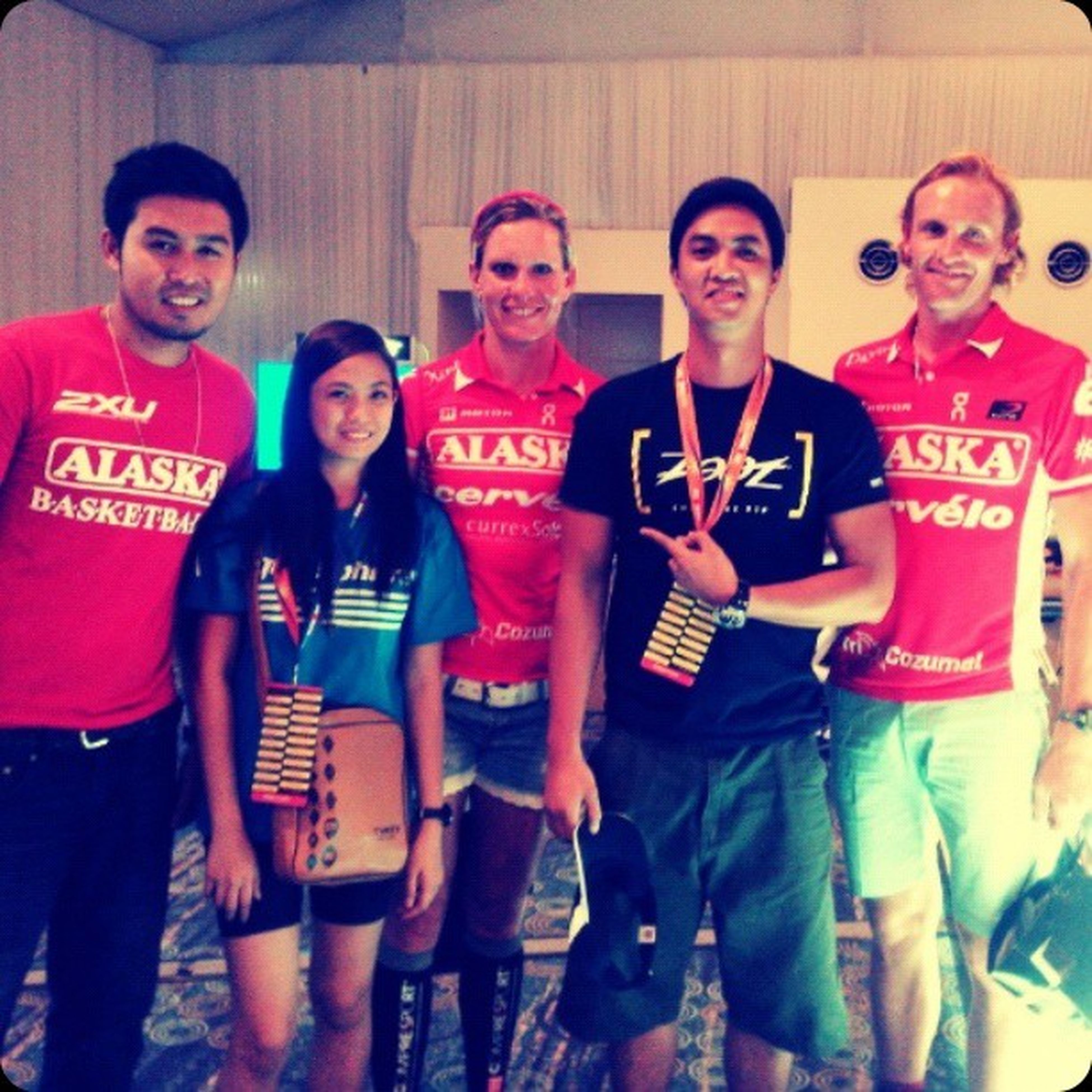 With the champs! Carolinesteffan Daviddellow TRIATHLON Cobraironman703 zoot aquasphere 2xu alaska teamtbb Another Cobra Ironman 70.3 Philippines done! See you next year champs. ♡ Congratulations to all the participants and finishers! Cheers! I ♥Triathlon :)