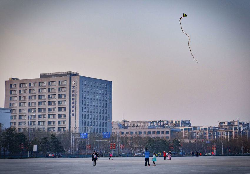Architecture Kite Kites Winter Cold Cold Temperature Dusk Dusk In The City Leasure Activity Open Space People