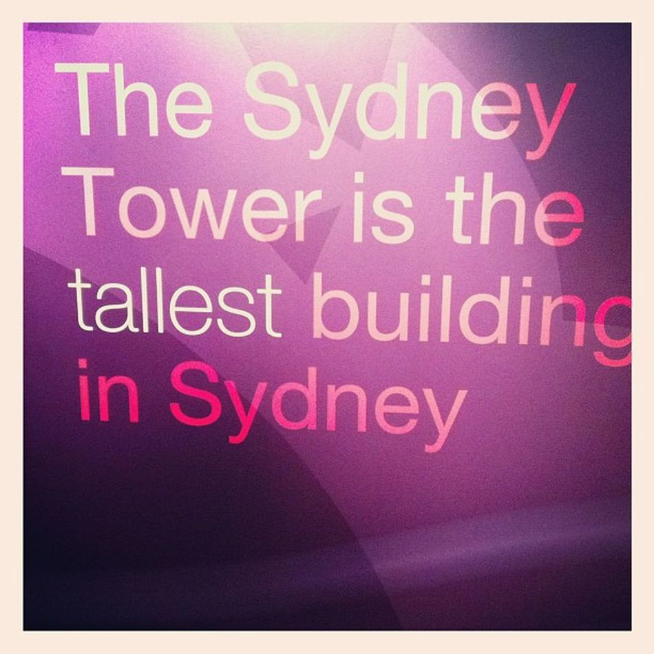Hahahaha yay being a tourist and first time at Sydney tower. Hahha tallest in Sydney but not that tall in the world. Syd Sydney Igsyd Tower tourist tallest