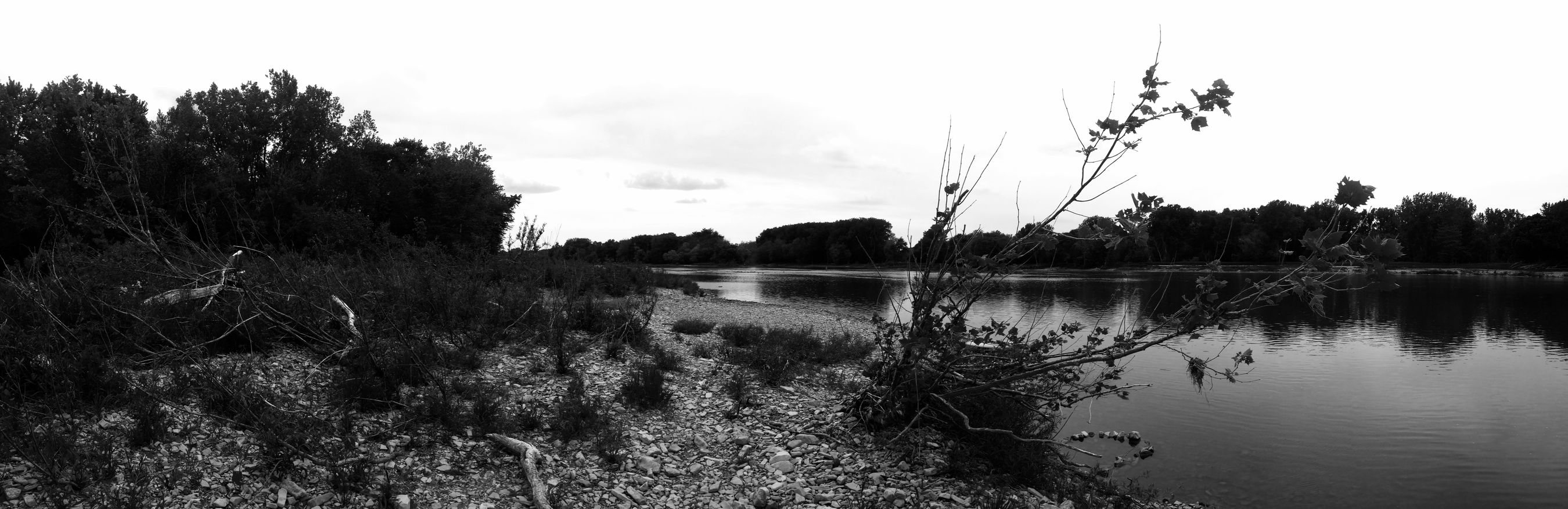 Ohio Kayaking Maumee River Black & White