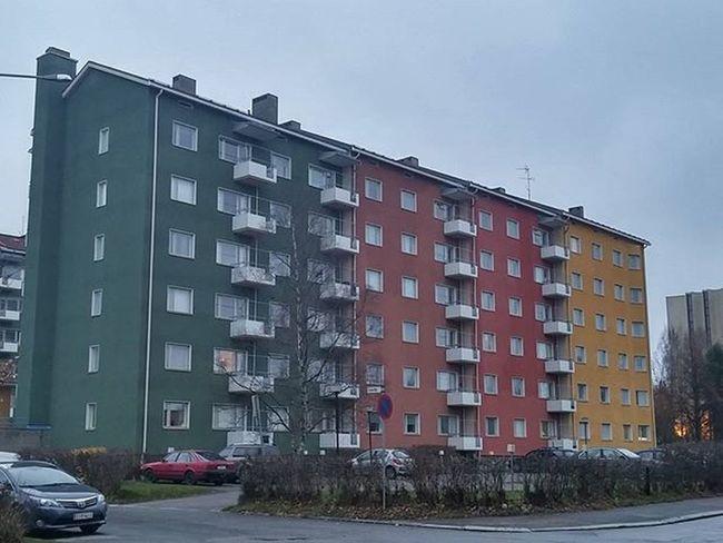 Buildings Rakenne Colorful Värikäs Colorido Colore Edificios Batiments Tampere Tamperelove Tre Kaleva Visittampere Finland Visitfinland Suomi Finlandlovers