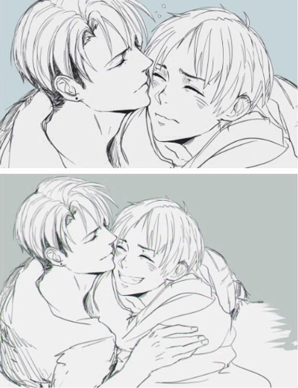 Otaku Fujoshi Boys Love Gay ShingekinoKyojin Heichou Smile Riren Ereri Anime