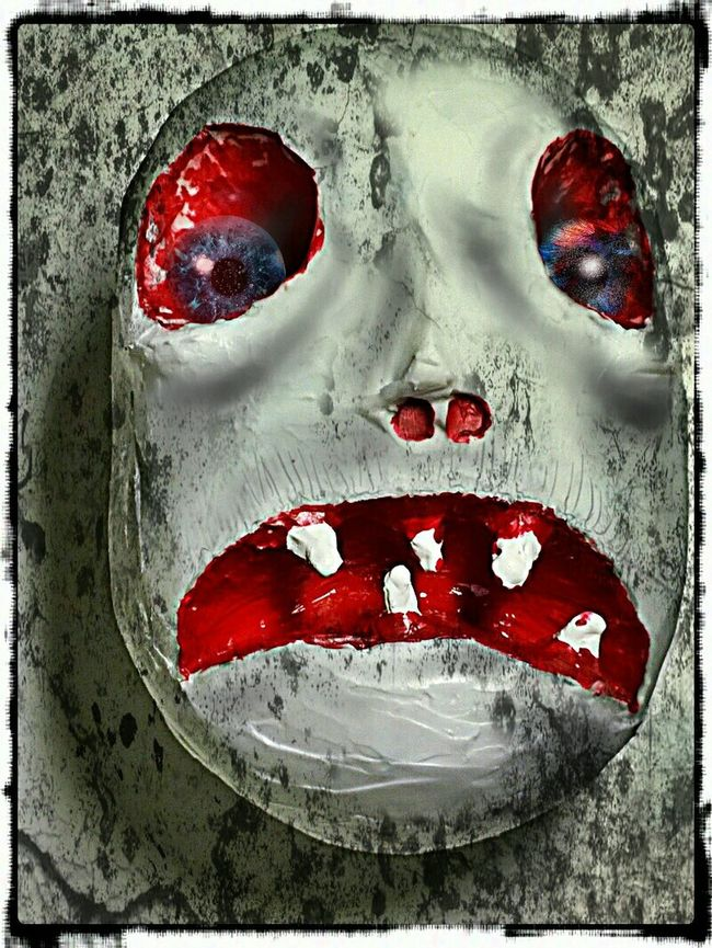 Scary Dolls Scary Stuff  Scary Face Extreme Close-up Art Mixed Media Man Made Object Mixedmedia Sculptures Art And Craft Painting Paintings Human Face Dolls Head Dolls Faces
