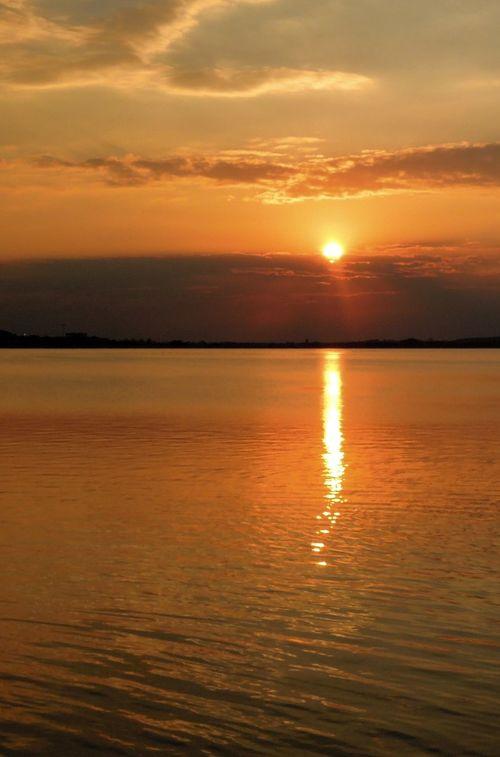 Sunset Sun_collection Lake No Edit/no Filter