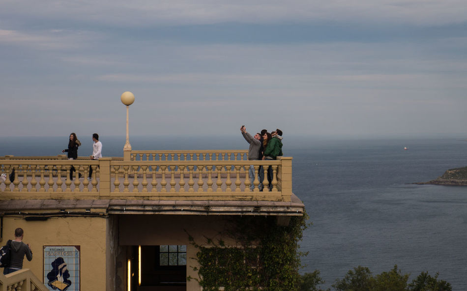 A place for selfies Igeldo People San Sebastian Sea And Sky Travel Destinations Young Adult