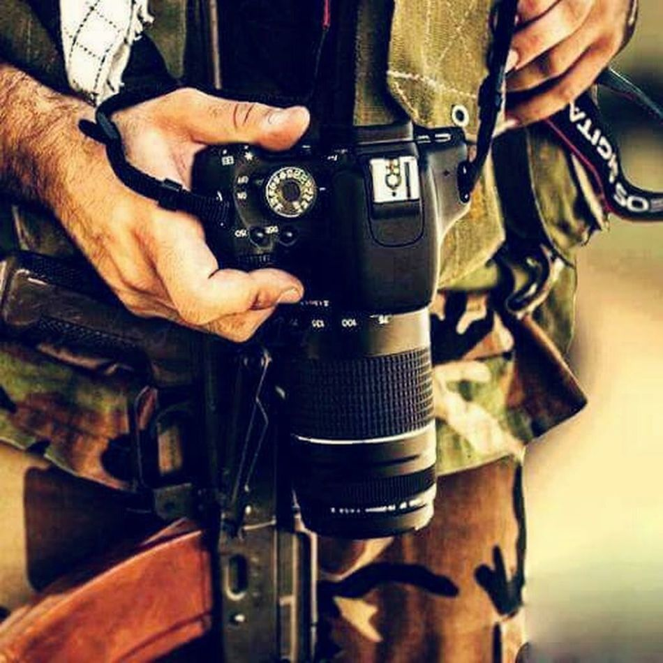 Midsection Only Men One Person Close-up People Pistol Camera Weapon Weapons Of War Military
