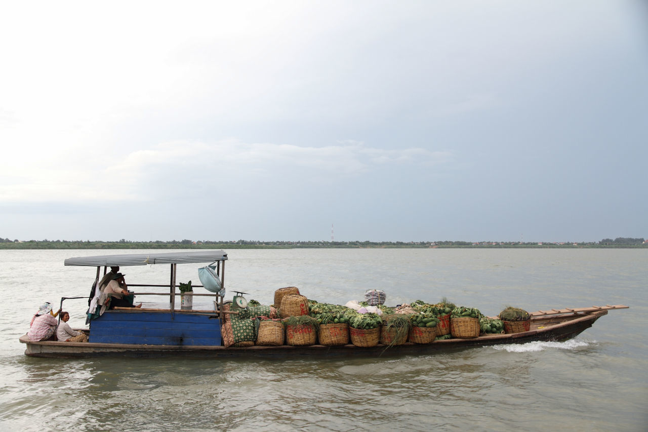 Beautiful stock photos of vegetables, Basket, Beauty In Nature, Boat, Cambodia