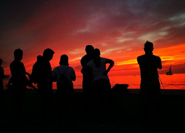 "Silhouette People Sunset View. Sun Set Sunset Silhouette Coast Friendships Vanilla Twilight Sky Harbor City Sunset Silhouette Sea Harbor Harbour View Friendship Twilight Twilight Sky Twilightscapes Dramatic Sky Harborplace Twilight View Twilight Scene Friends EyeEmNewHere""Squad Goals"" taken from Harbor view Manila Philippines The Street Photographer - 2017 EyeEm Awards"