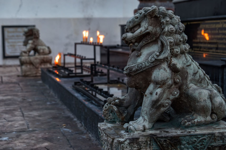 Art Buddhism Burning Candles Candlesticks Dragon Flame Focus On Foreground Guarding The Garden Illuminated Incense Sticks Oriental Temple Temple - Building Temple Dragon