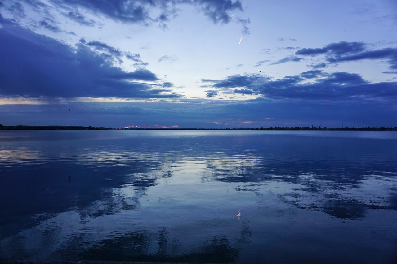 Blue vibe Reflection Sea Water Scenics Landscape Outdoors Beach Blue Tranquility Horizon Over Water Nature No People Sky Beauty In Nature Day Lake Blue Wallpaper Beautiful Relaxing Moody