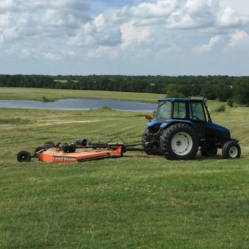 Ranch Life Mowing The Lawn