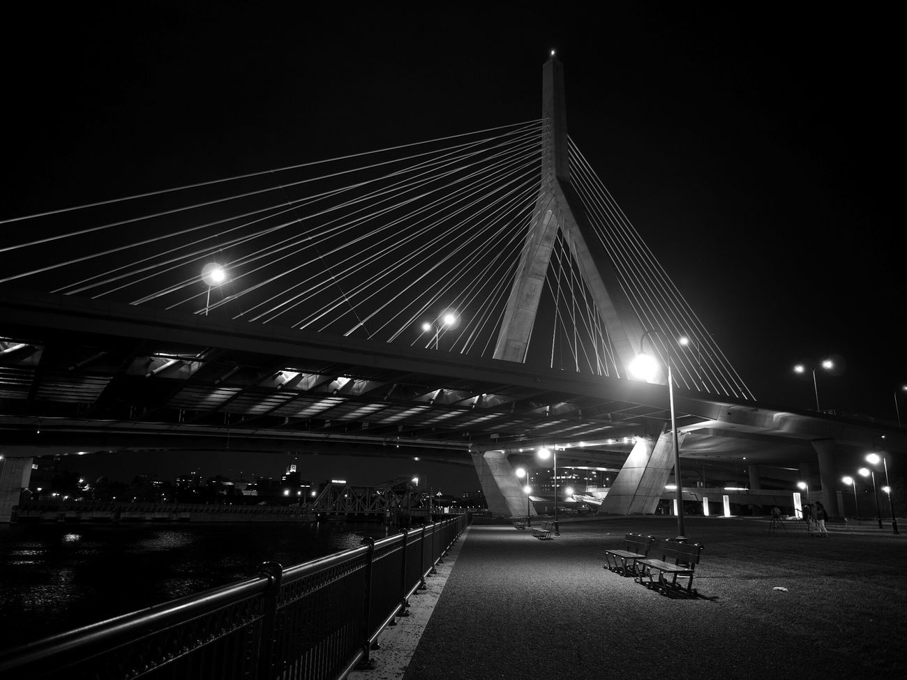 Leonard P. Zakim Bunker Hill Memorial Bridge Nightphotography