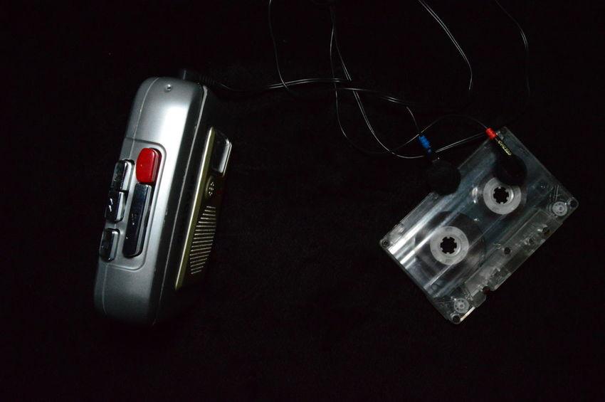 Retro Music Film Audio Cassate Cassete Player Headphones