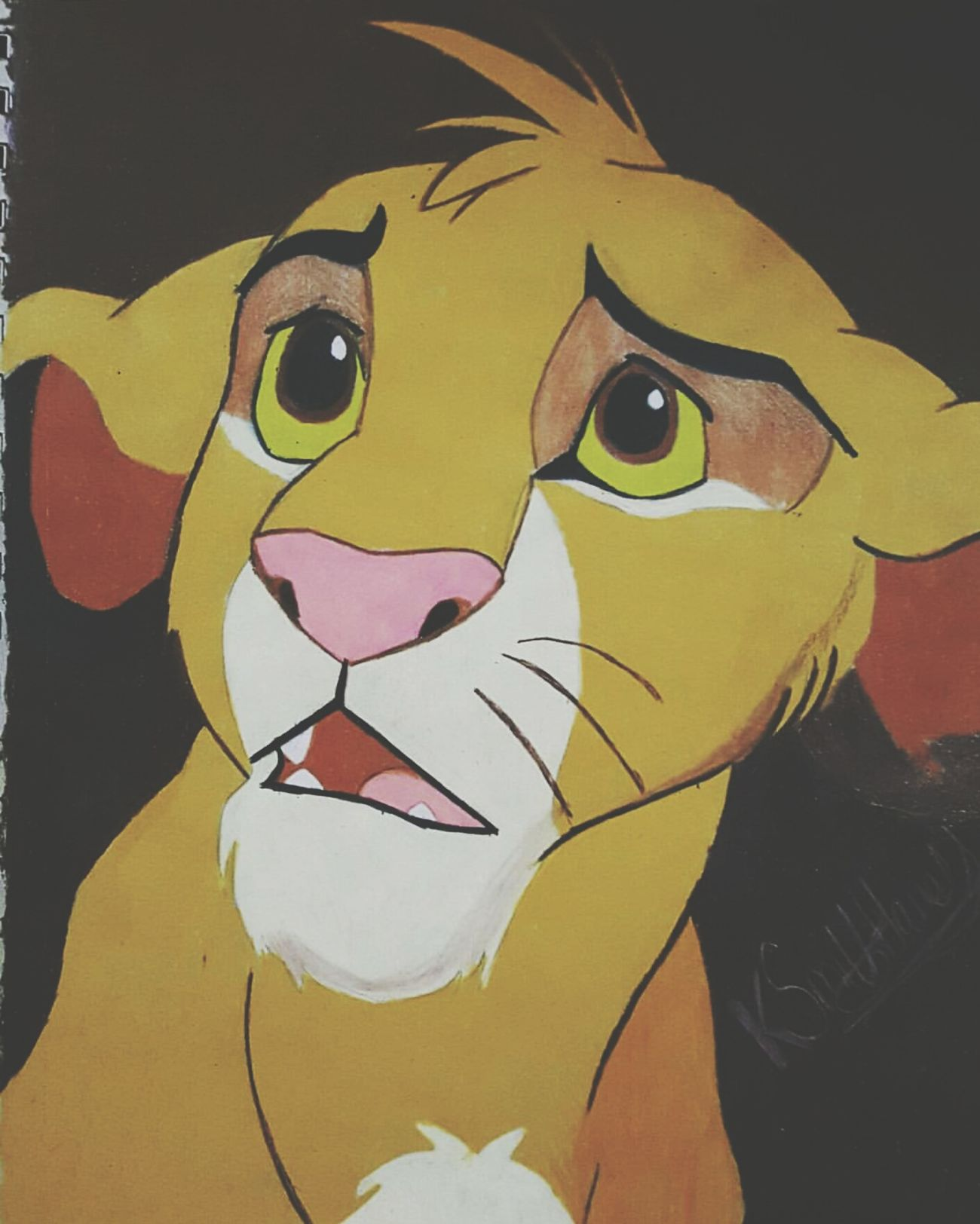 ArtWork Art, Drawing, Creativity Art And Craft Drawing Simba Thelionking The Lion King Disneyland Disney DisneyMagic  Artistic Artist