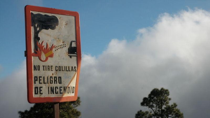 Signs Fire Tenerife SPAIN